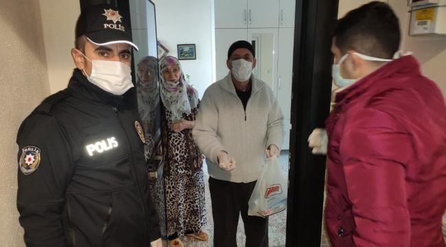 Emniyet'ten sokağa çıkma kısıtlaması bulunan vatandaşlara hizmet