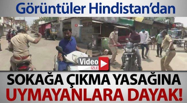 Hindistan'da sokağa çıkma yasağına uymayanlara dayak