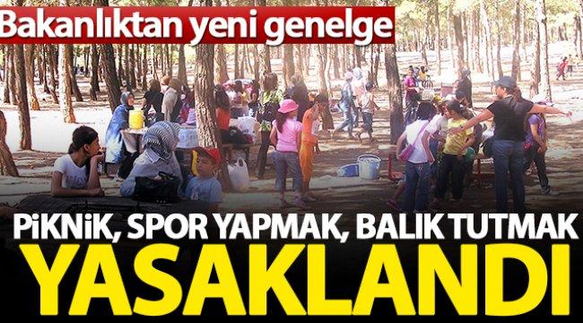 İçişleri Bakanlığı, 'Park, Mesire, Piknik' alanları ile ilgili genelge yayımladı