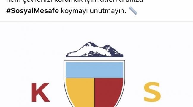 Kayserispor'dan sosyal mesafe paylaşımı