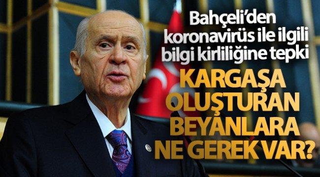 MHP Genel Başkanı Bahçeli'den KOVİD-19 ile ilgili bilgi kirliliğine tepki