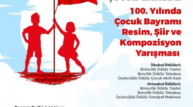 23 Nisan Ulusal Egemenlik ve Çocuk Bayramı'nın 100. yılında ödüllü yarışma