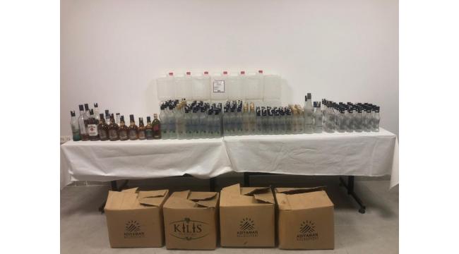 Ankara'da sahte alkol satanlara suçüstü