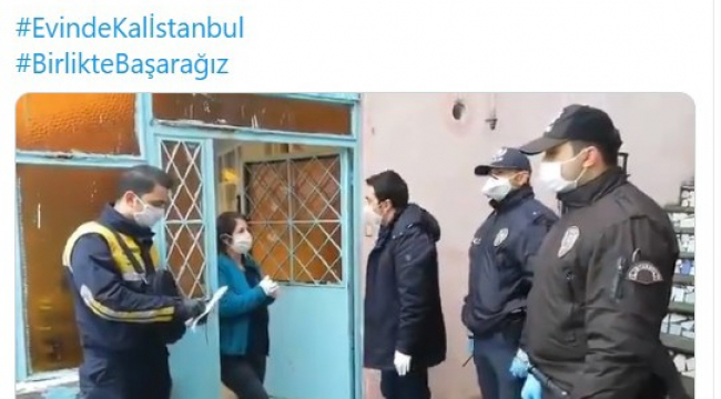 İstanbul'da bin TL sosyal yardım, ailelere evlerinde teslim edilmeye başlandı