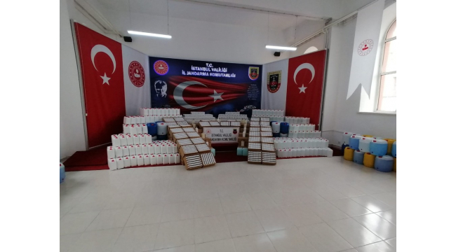 Jandarmadan 1 milyon TL'lik sahte dezenfektan operasyonu