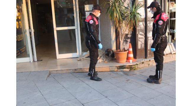 Polis, aç kalan sokak hayvanlarını elleriyle besledi