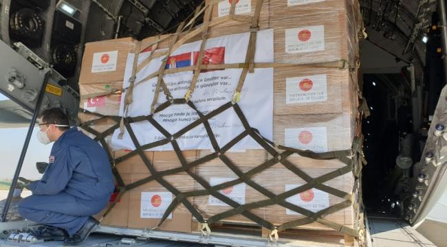 Yardım Malzemeleri Sırbistan'ın başkenti Belgrad'a indi