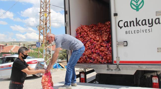 Çankaya'dan dar gelirli vatandaşlara kuru soğan yardımı