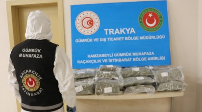 İki valiz dolusu uyuşturucu yakalandı