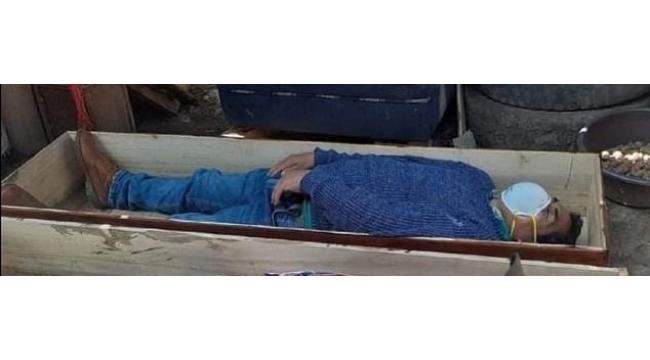 Karantinayı ihlal eden belediye başkanı ölü taklidi yaptı