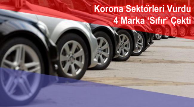 Otomotiv satışında 4 marka Nisan'da