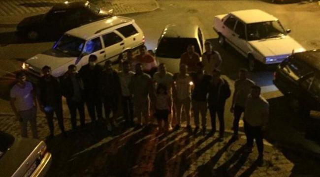 Sosyal mesafeyi hiçe sayan bir grup vatandaş drift yaparak doğum günü kutladı