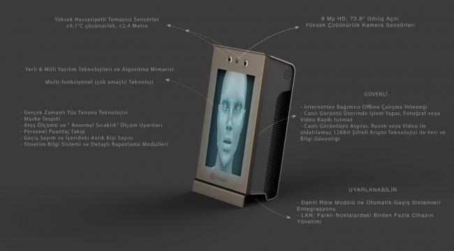 Temassız yüz tanıma ve ateş ölçümü tek cihazla yapılabilecek