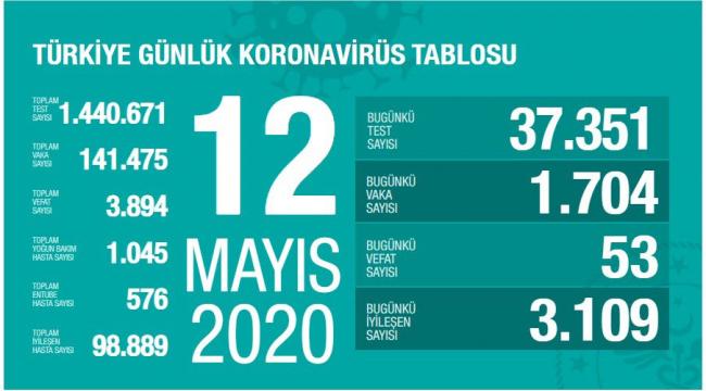 Türkiye'de toplam vakaların yüzde 70'i iyileşmiş durumda