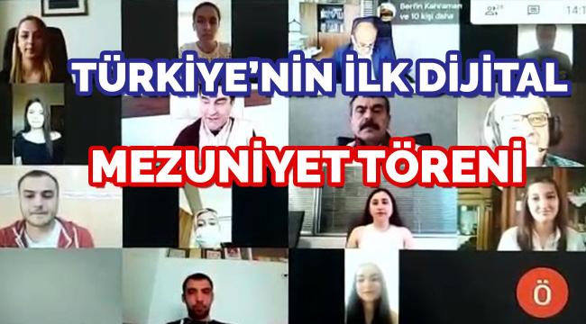 Ankara Hacı Bayram Veli Üniversitesi'nden Türkiye'nin ilk dijital mezuniyet töreni