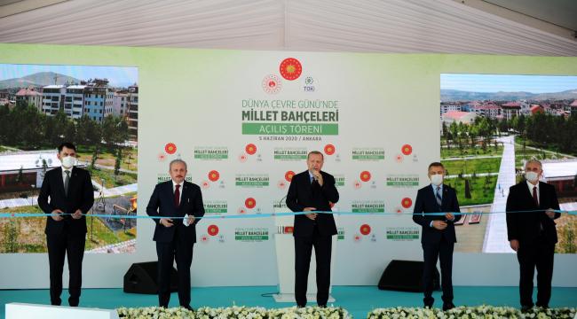 Cumhurbaşkanı Erdoğan, millet bahçelerinin açılışını yaptı