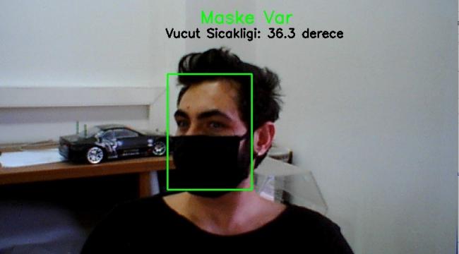 Kameradan sosyal mesafe ve  maske kontrolü yapan yazılım geliştirildi