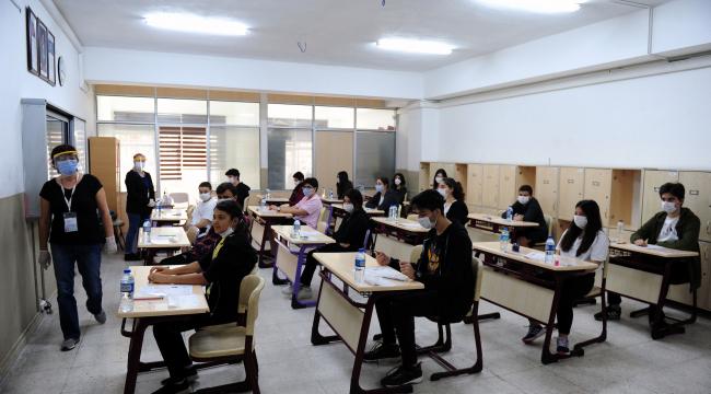 LGS kapsamında yapılan merkezi sınav heyecanı