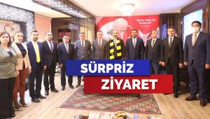 MKE Ankaragücü yöneticilerinden MHP Ankara İl Başkanlığına ziyaret