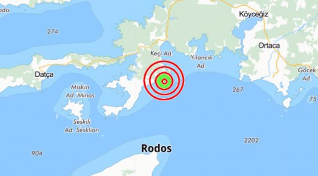 Muğla'da 5.4 büyüklüğünde deprem meydana geldi