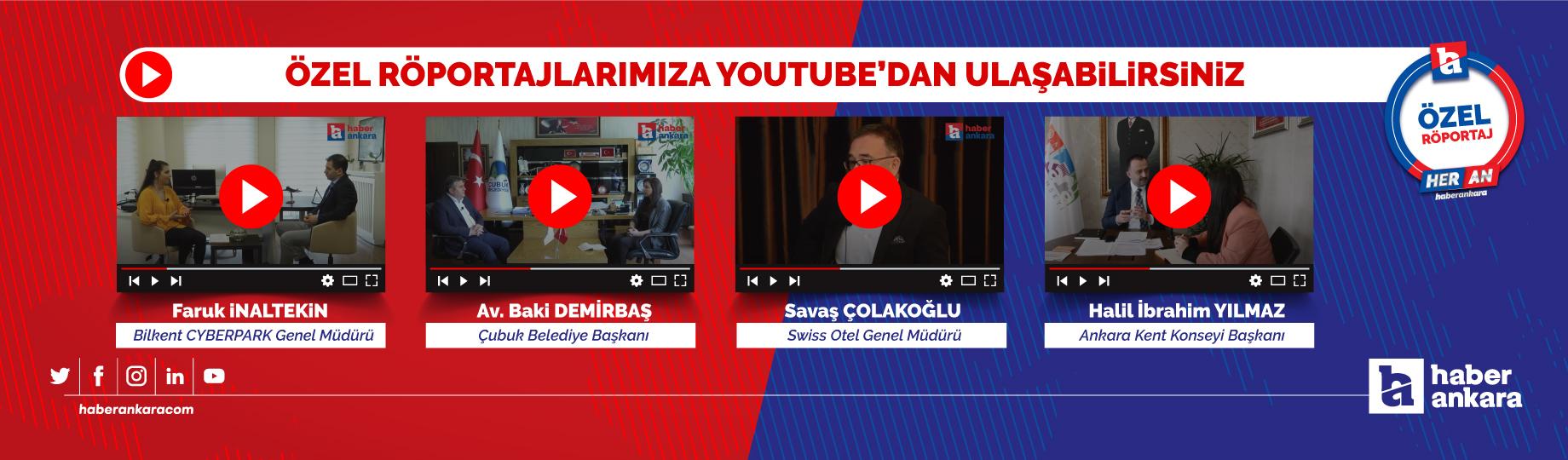 Özel röportajlarımız YouTube kanalımızda