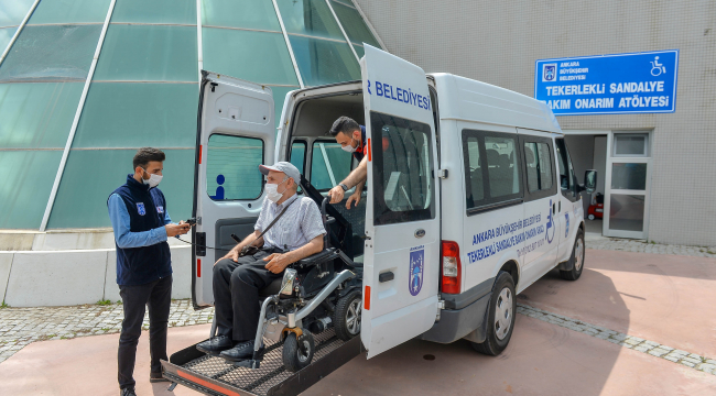 Engelli vatandaşları yolda bırakmayan hizmet