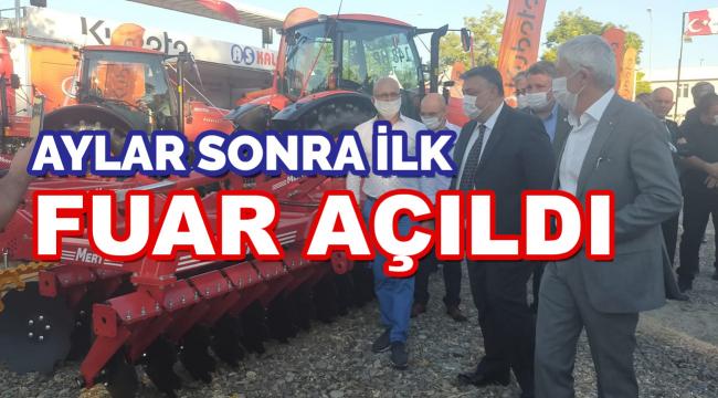 Türkiye'de aylar sonra ilk fuar açıldı