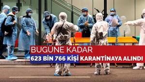 Bakanlık açıkladı: Bugüne kadar 623 bin 766 kişi karantina altına alındı