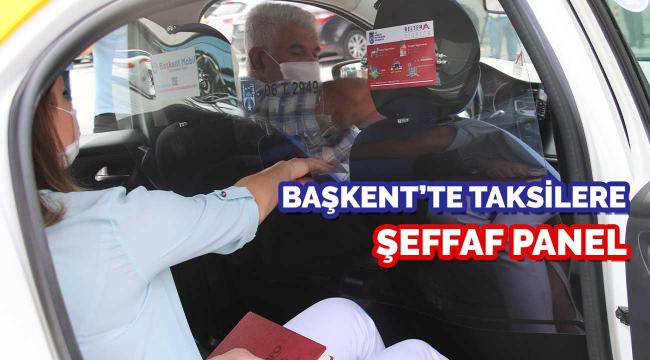 Başkent taksilerine şeffaf panel uygulaması