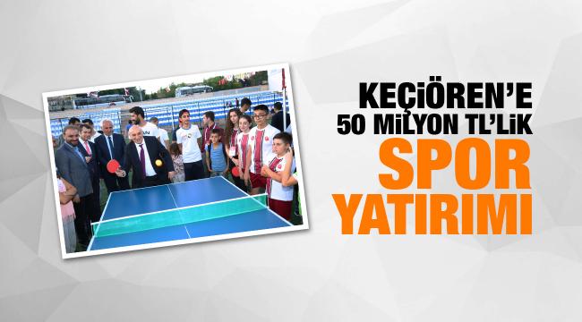 Keçiören'e 50 milyon TL'lik spor yatırımı