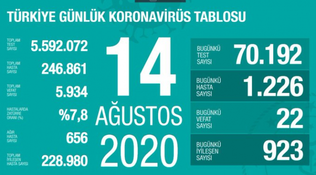 Türkiye'de en yüksek test sayısına ulaşıldı