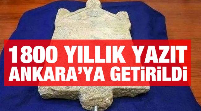 """1800 yıllık """"Lidya Yazıtı"""" ait olduğu topraklara geri döndü"""