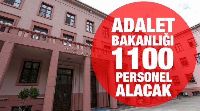 Adalet Bakanlığı 1100 personel alacak