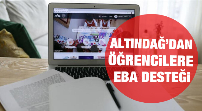 Altındağ'dan öğrencilere EBA desteği