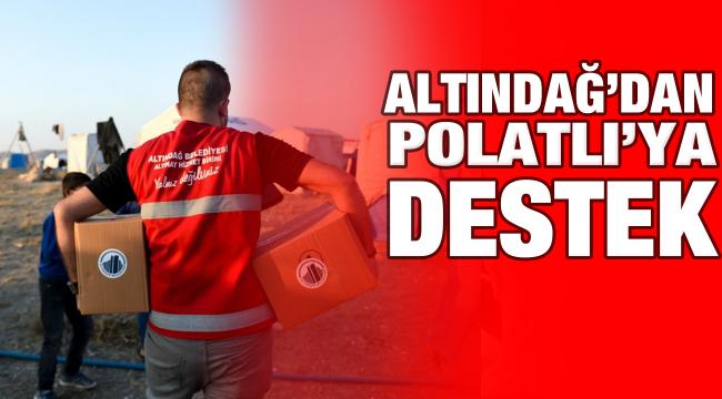 Altındağ'dan Polatlı'ya destek
