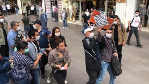 Ankara'da izinsiz gösteri yapan 6 kişi gözaltına alındı