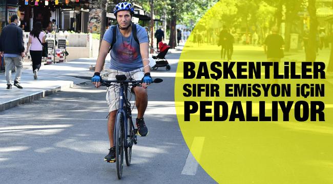 Başkentliler sıfır emisyon için pedallıyor