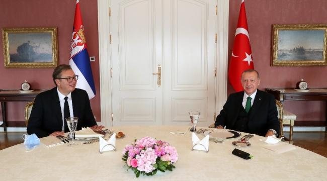 Cumhurbaşkanı Erdoğan, Sırbistan Cumhurbaşkanını kabul etti