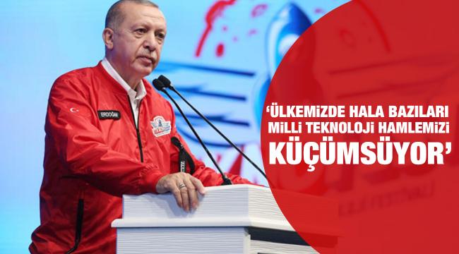 Cumhurbaşkanı Erdoğan, Teknofest 2020 Ödül Töreni'nde
