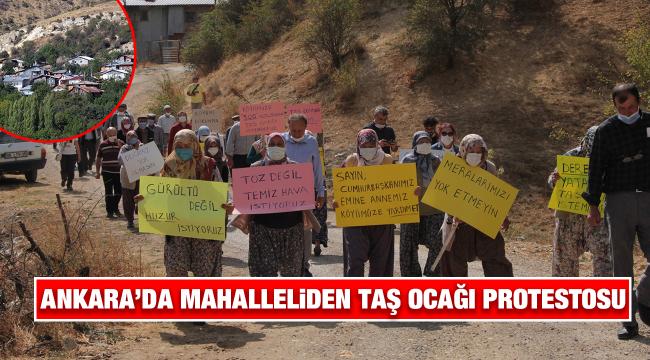 Mahallelinin taş ocağı protestosu