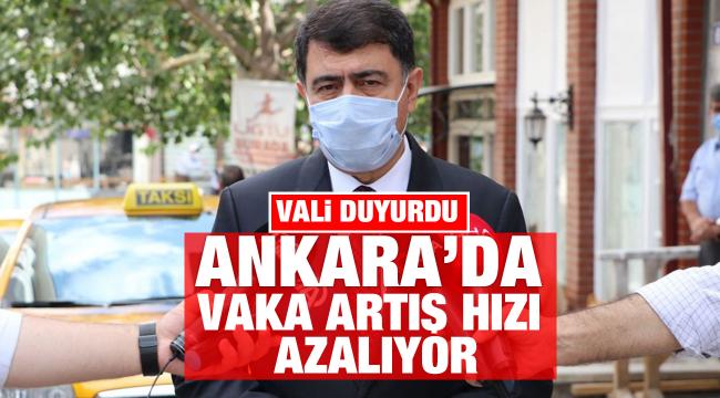 Vali Şahin: Ankara'da vaka artış hızımız yavaşladı