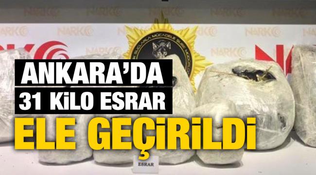 Ankara'da 31 kilo kubar esrar ele geçirildi