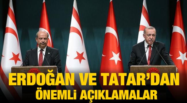 Erdoğan ve Tatar'dan önemli açıklamalar