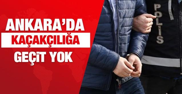 Ankara polisinden kaçakçılara darbe! Bir haftada 7 gözaltı