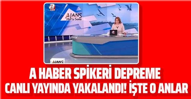 A Haber spikeri Merve Türkay İstanbul depremine canlı yayında yakalandı! İşte o anlar...