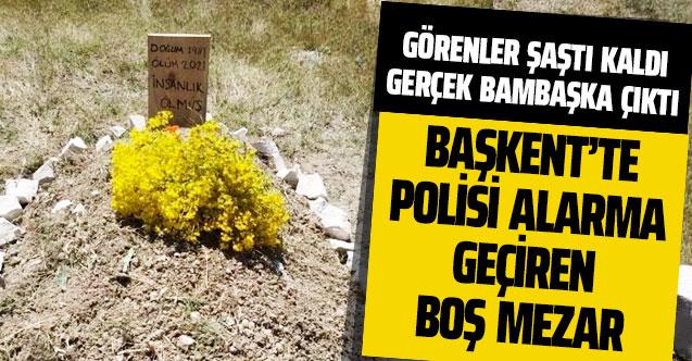 Ankara Sincan'daki boş mezar polisi alarma geçirdi! Görenler hayret etti