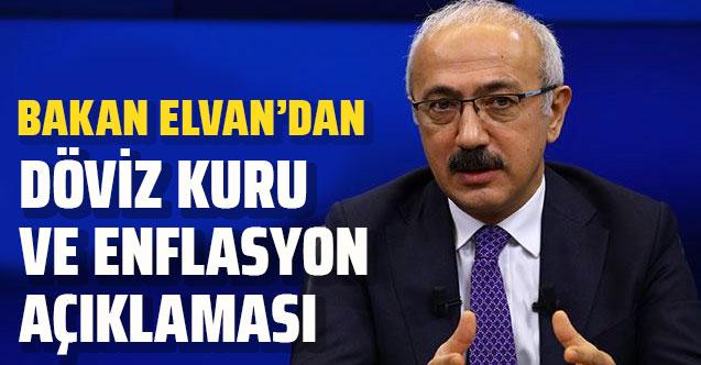 Artan döviz kuru ve enflasyon rakamlarına Bakan Lütfü Elvan'dan açıklama
