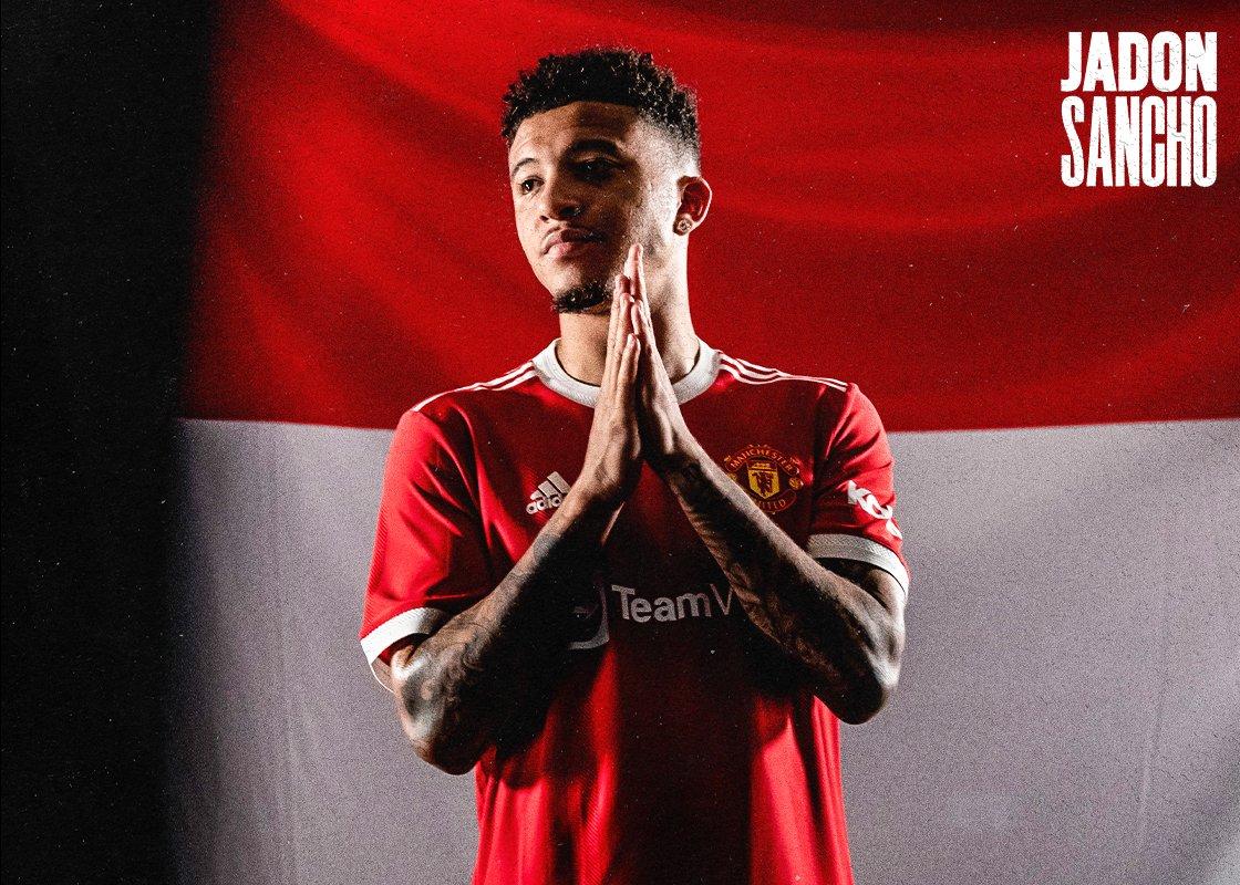 Jadon Sancho Manchester United'a imzayı attı