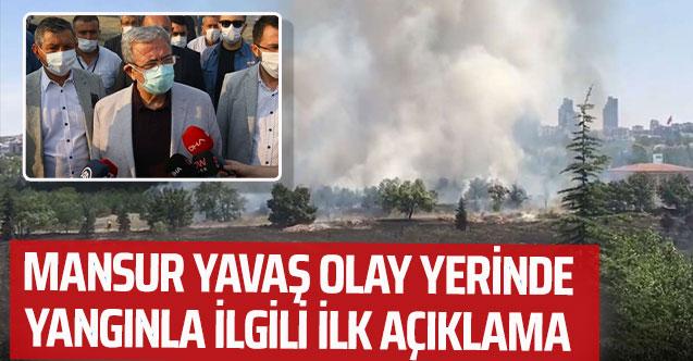 Mansur Yavaş Atatürk Orman Çiftliği yangın alanında incelemede bulundu