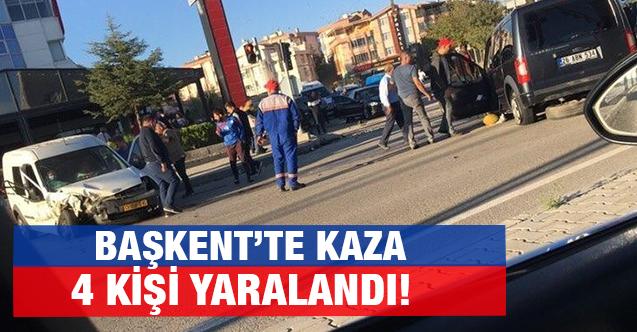 Polatlı'da iki ticari araç çarpıştı: 4 yaralı!